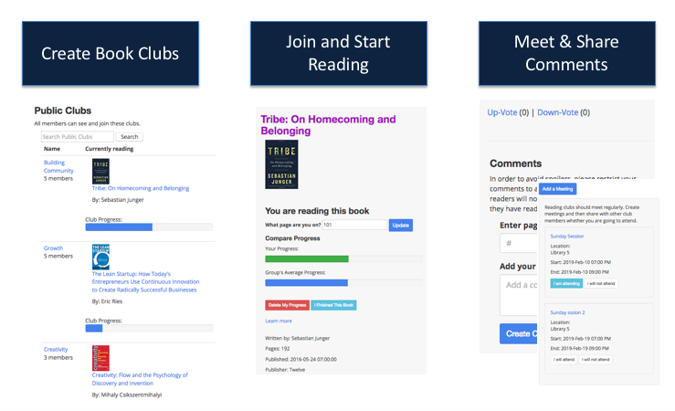 BookClubFever is a tool to foster community learning and engagement across your organization.