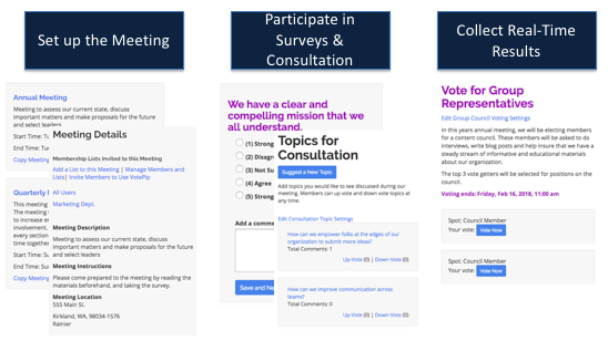 VotePip helps you create and host a more collaborative and consultative meeting.